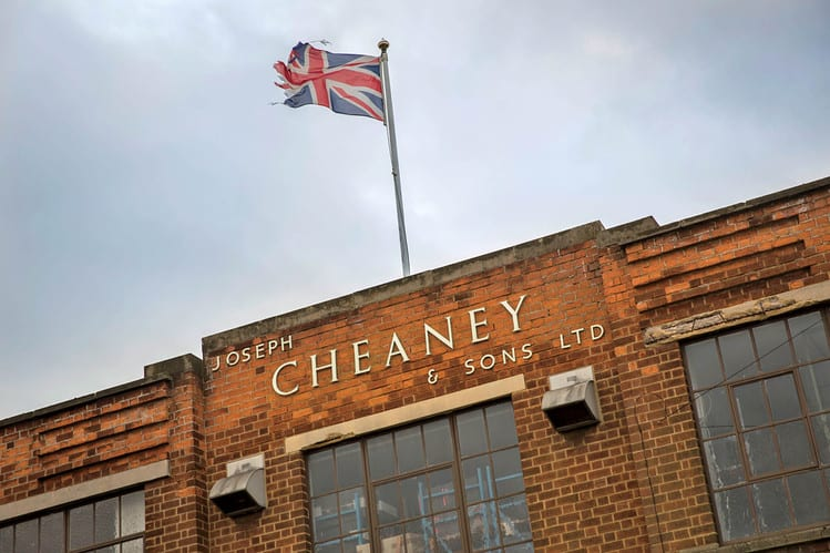 The factory, where Cheaney has been since 1903.