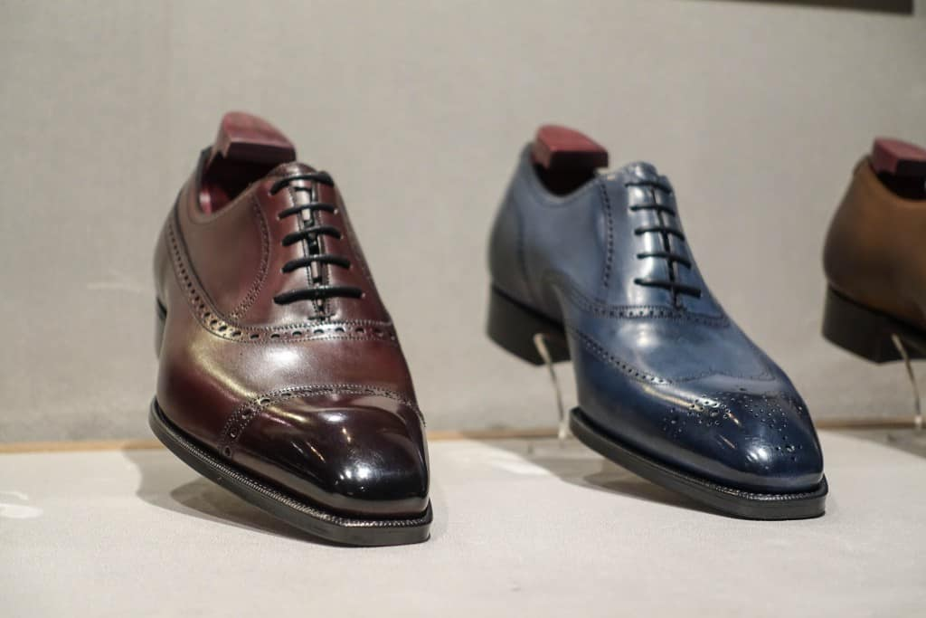 The balmoral oxford Westminister and the so called faux brogues Mitchell.