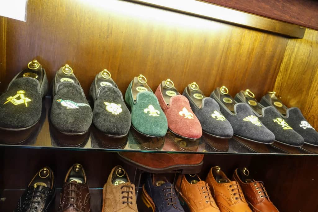 Tricker's also has a collection of so called Albert slippers.