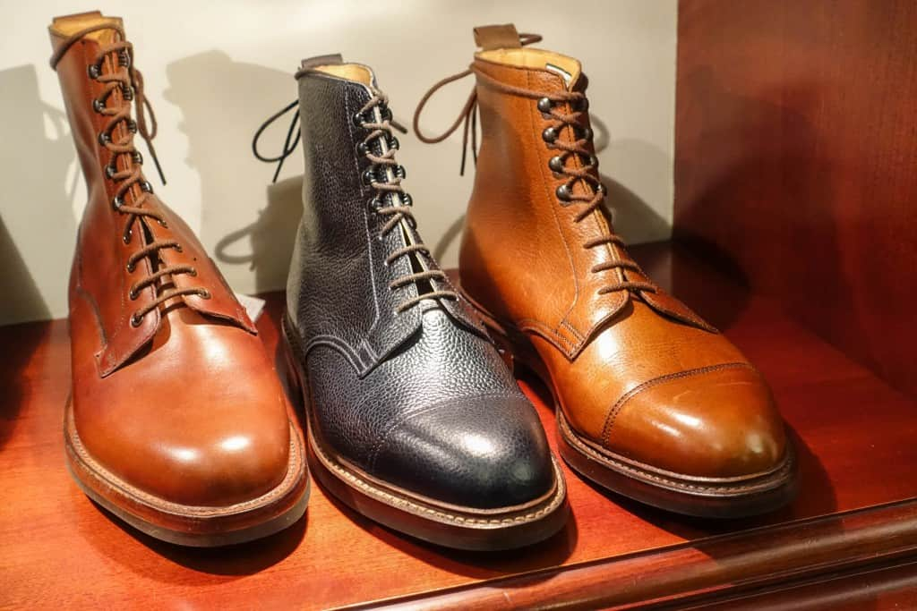 Two make ups of the popular Coniston boot to the right, and a sibling to the left.