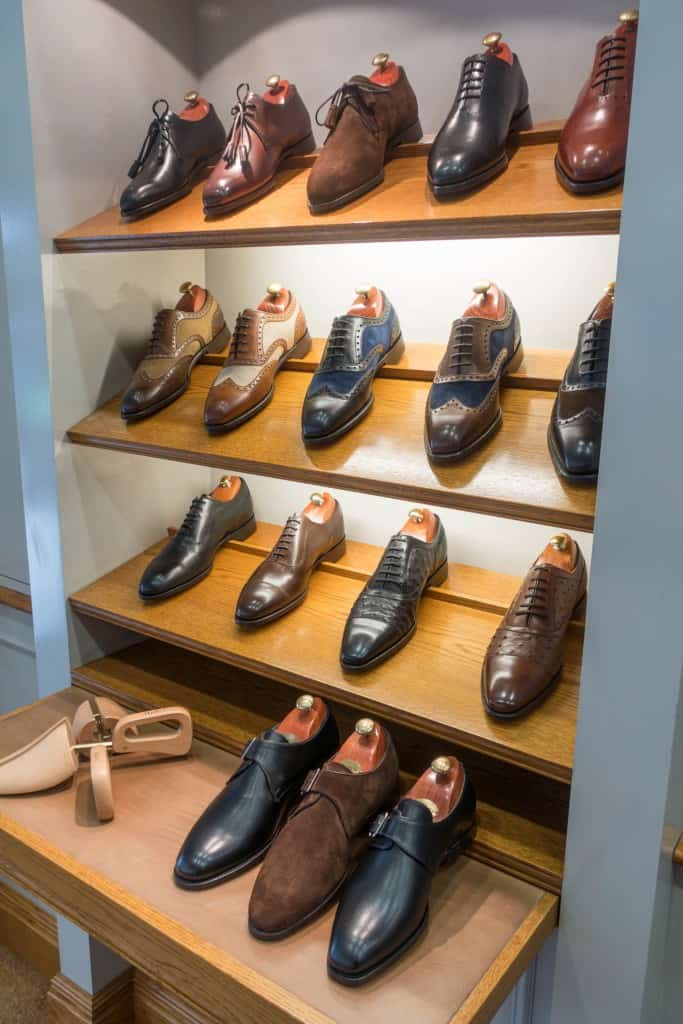 A selection of shoes mainly from the top range Anniversary Collection.