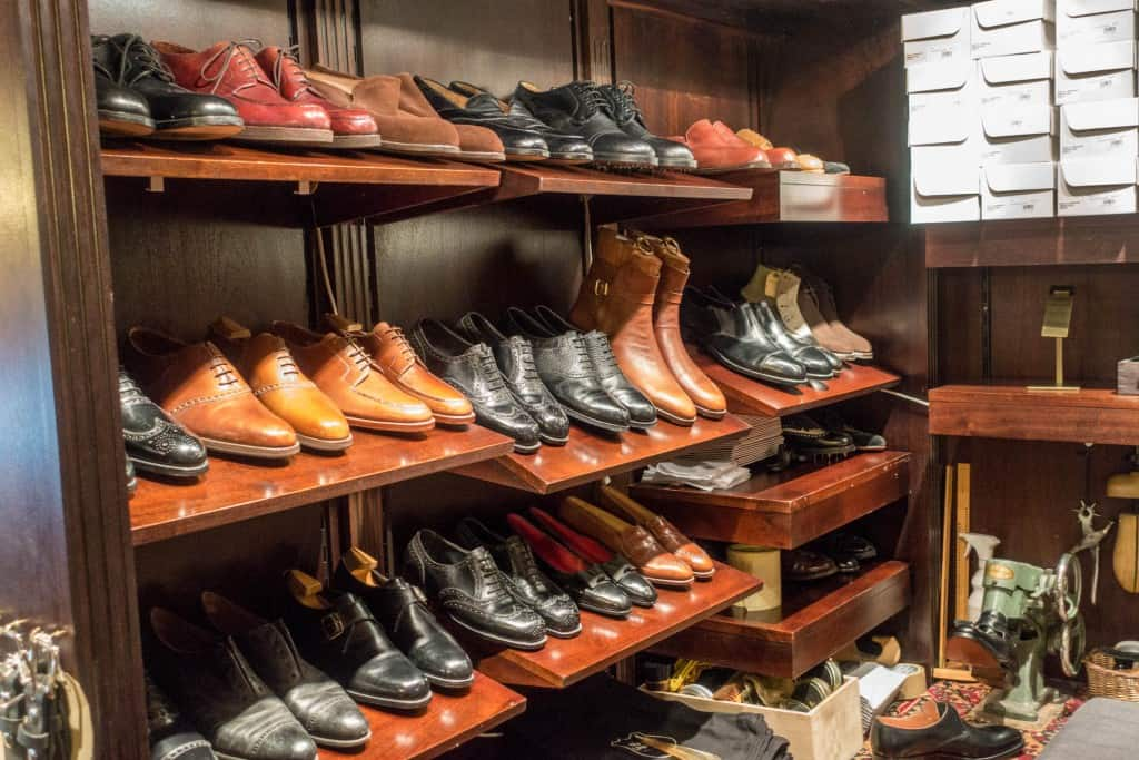 Various stuff, for example some shoes who were in for a service.