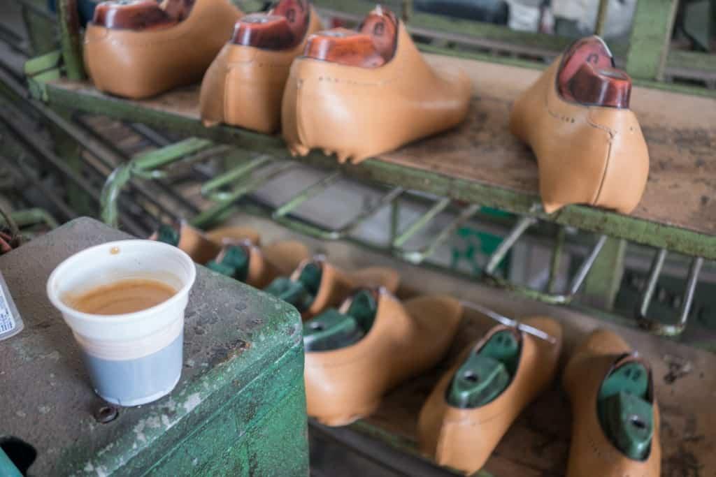 Espresso in a plastic cup.