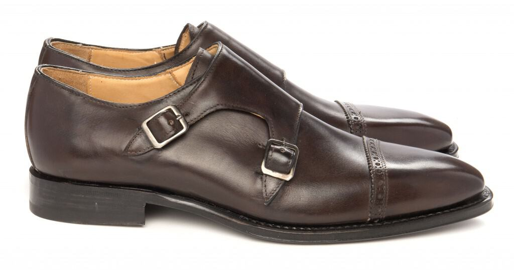 3. Montenapoleone Borgogna. This dual munkskomodellen in the same make-up 29-load with single leather sole, but a hand-painted dark red burgundynyans.