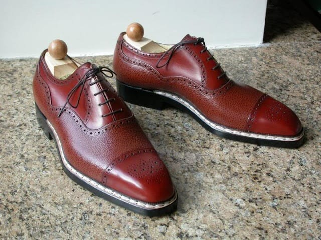 Goyser stitched shoes from Hungarian brand Vass. Picture: Styleforum