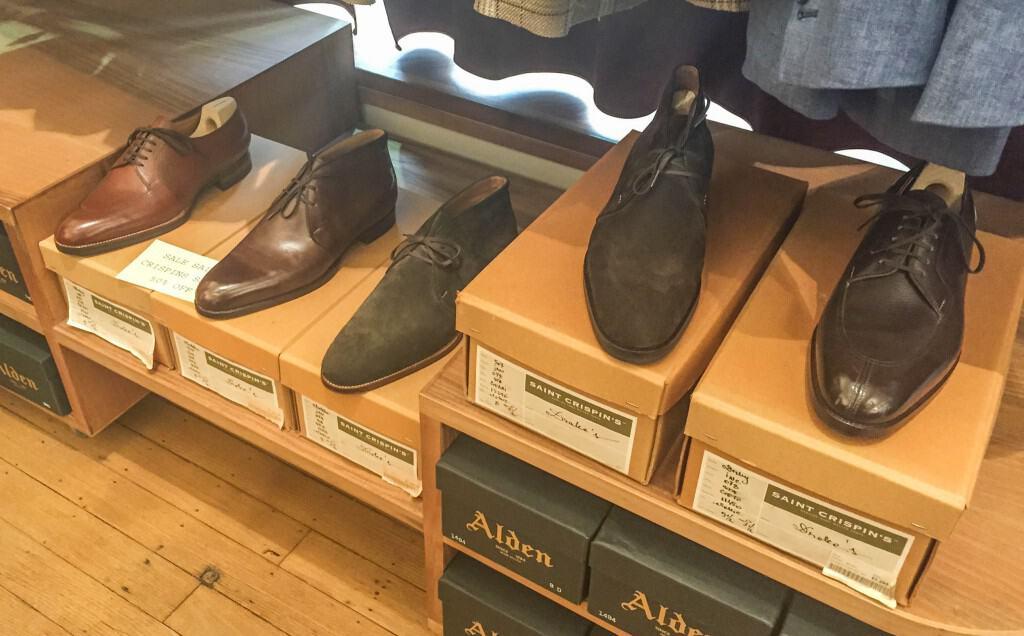 Saint Crispin's shoes on sale.
