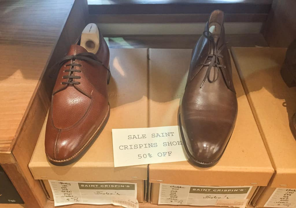 Split toe derby and chukka boot.