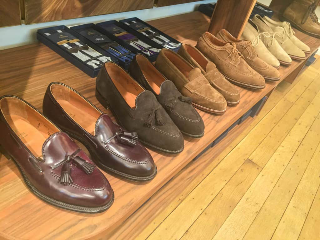 Current selection of Alden shoes.