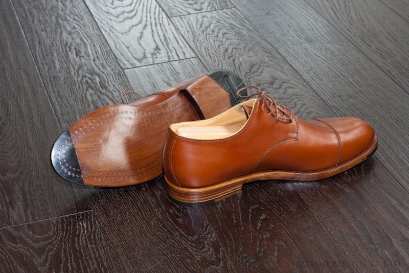 Beautiful wood pegged shoes, with two rows of pegs all along the bottom. Picture: ZImmermanKim