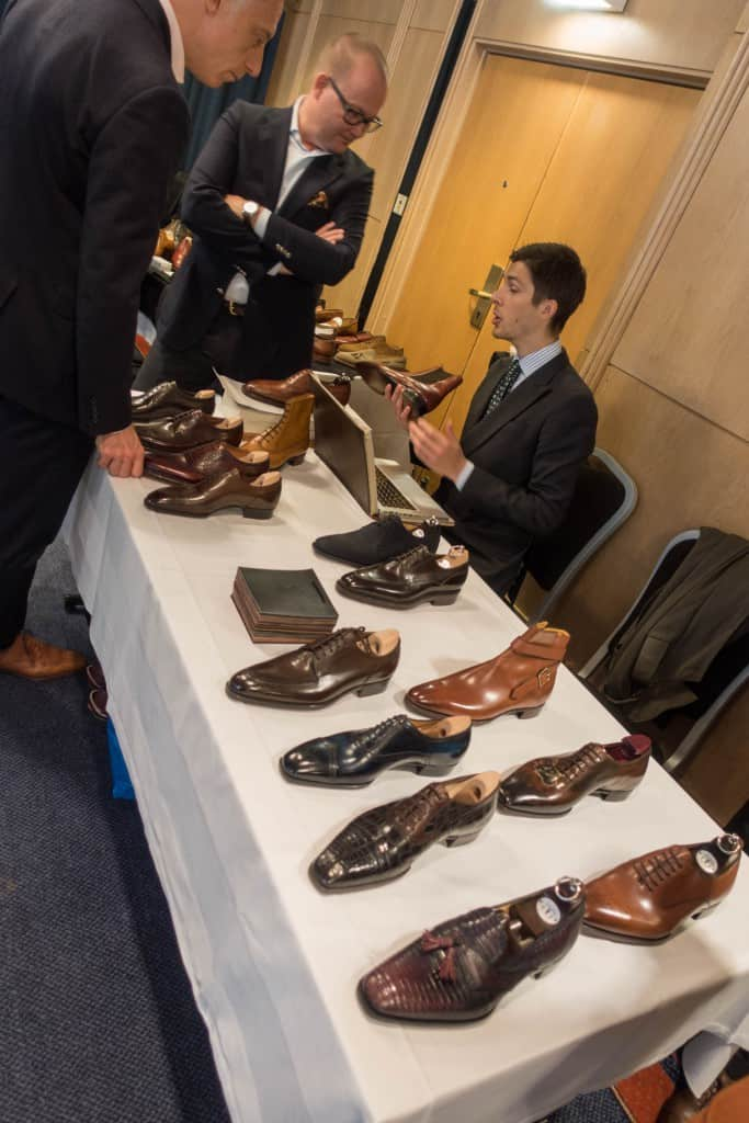Gabriel Öberg Bustad, Store Manager at Skoaktiebolaget,  was on spot to showcase Gaziano & Girling's shoes.