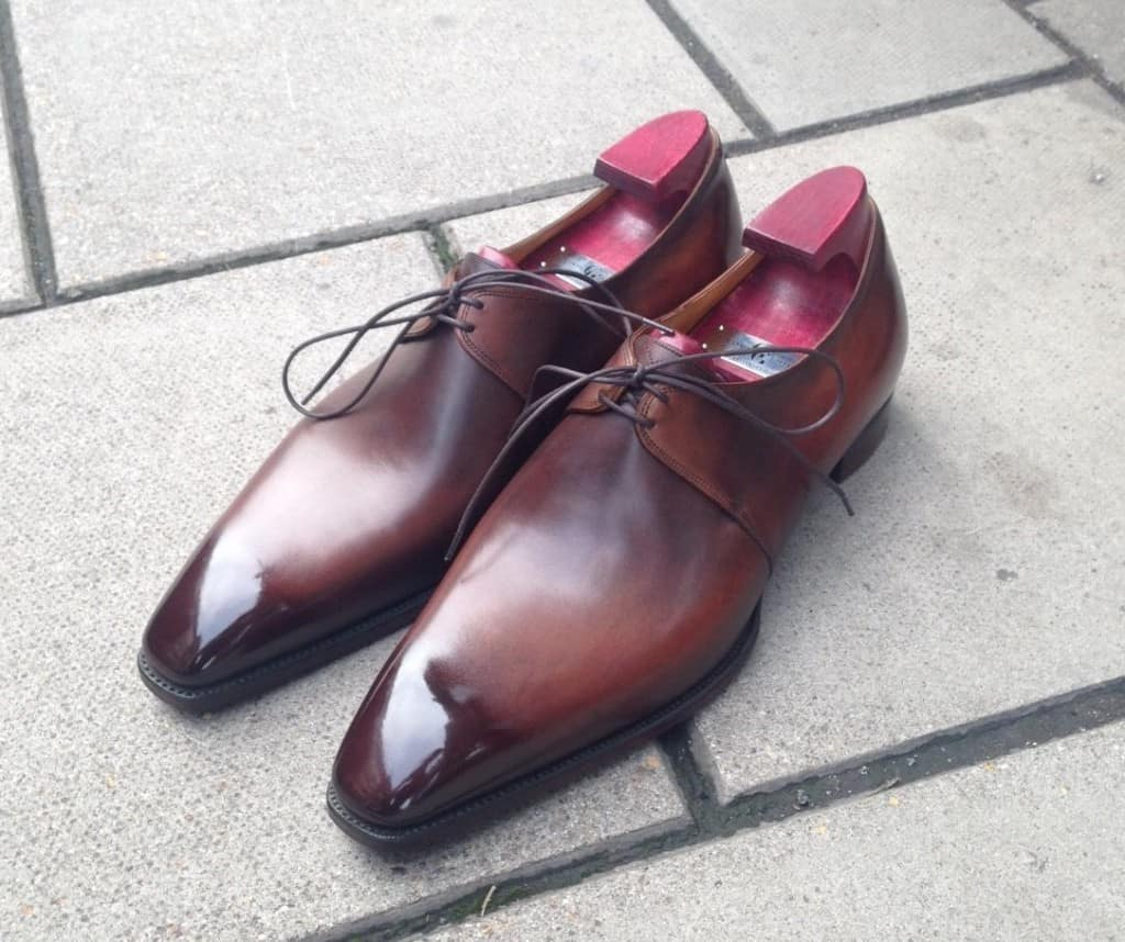 My shoes will have this patina, called Wilde Canyon.