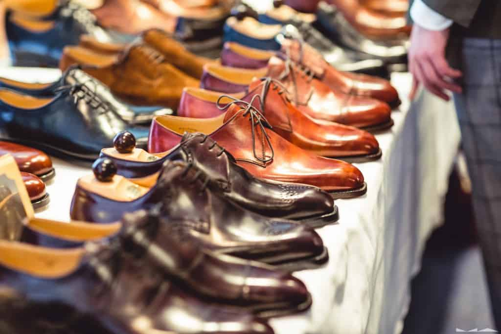 Rows of Vass shoes.