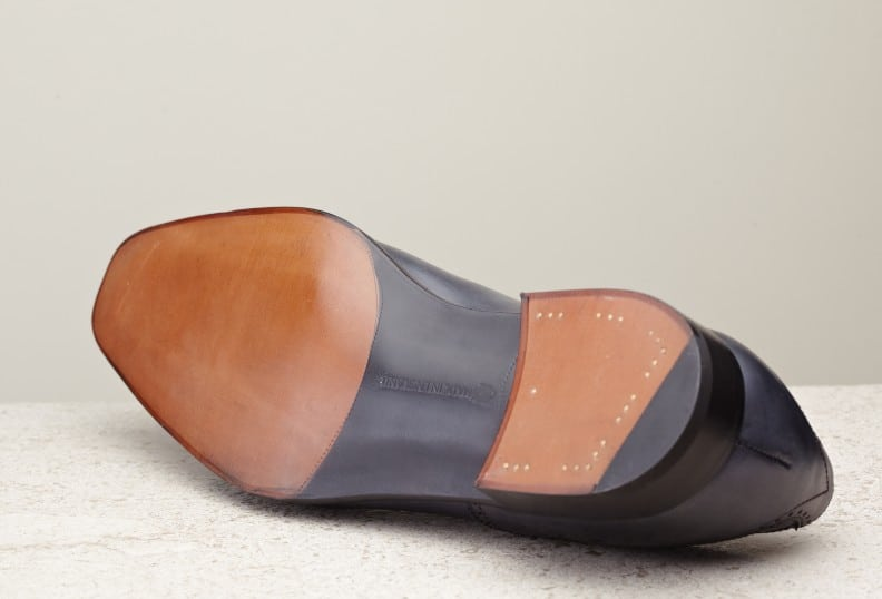 Oak bark tanned leather soles and a slightly bevelled waist is standard on all EG shoes with single leather sole.