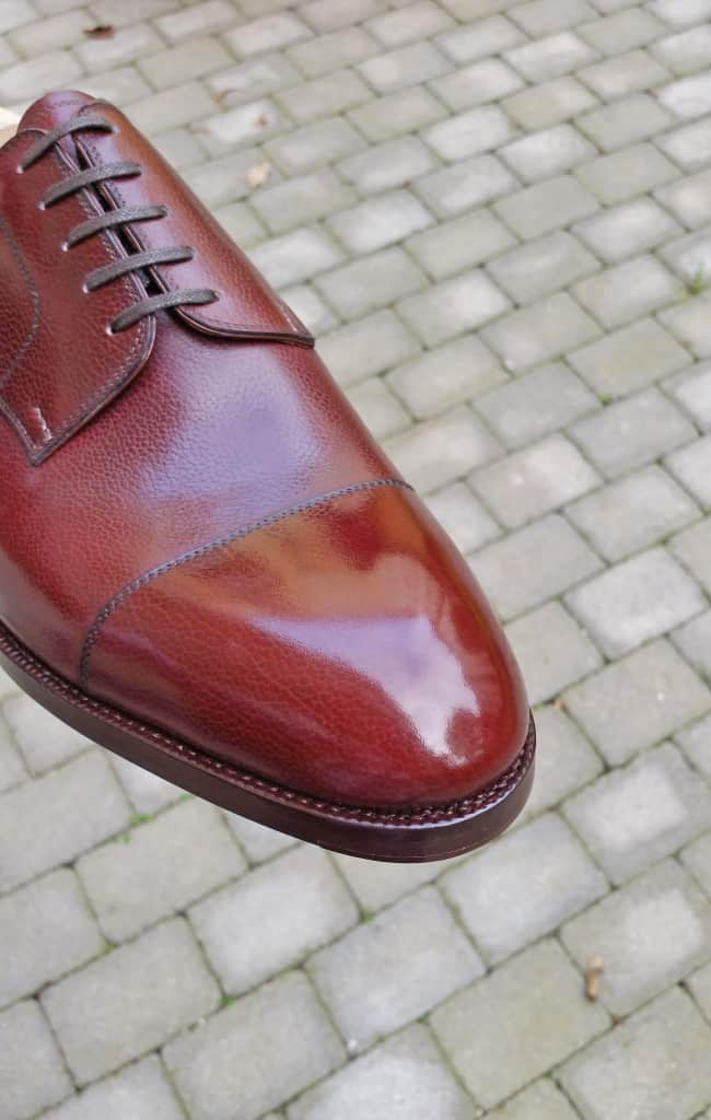 A shoe from Saint Crispin's, where it's the upper part of the welt that's supposed to be looked at more closely.