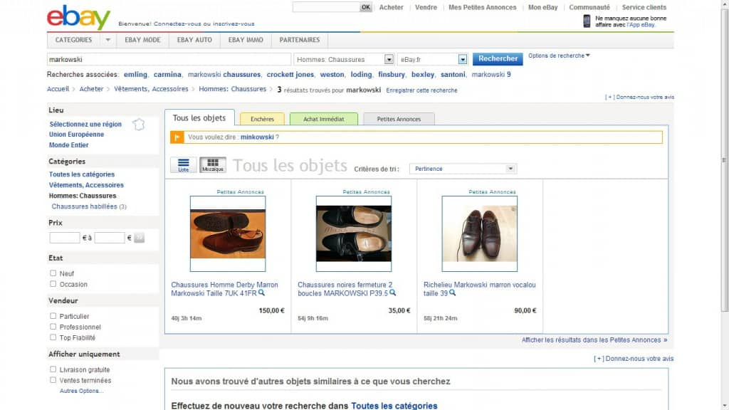 On the French Ebay page you can find some French brand that's only available on that site.