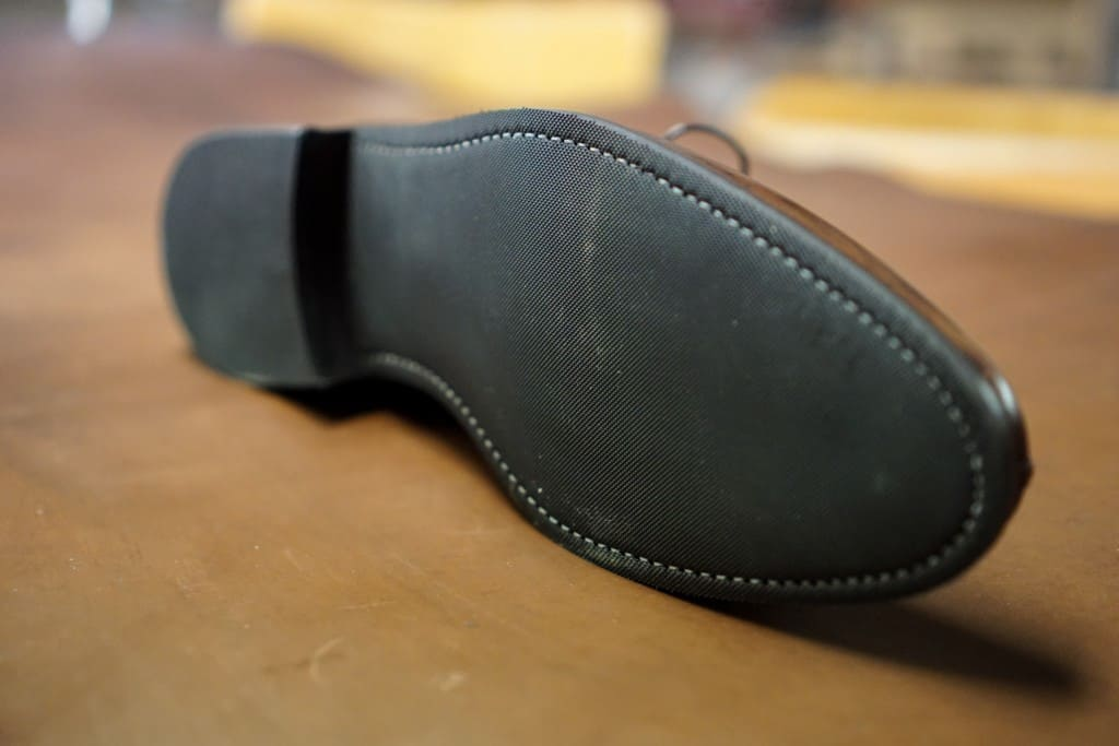 The sole from below.