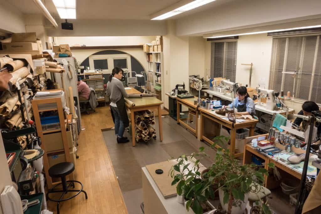 The workshop which is very neat and tidy.