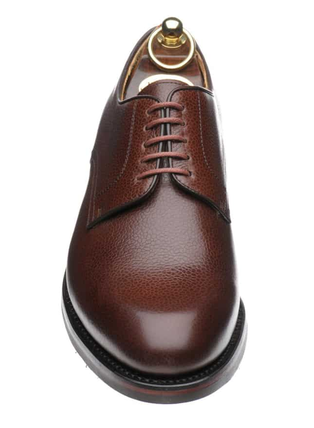 Derby in grain leather with double rubber sole. Pictures: Herring Shoes