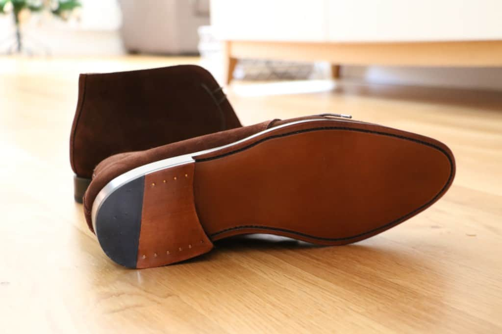 Leather sole. Picture (also the first one above): Le Barboteur