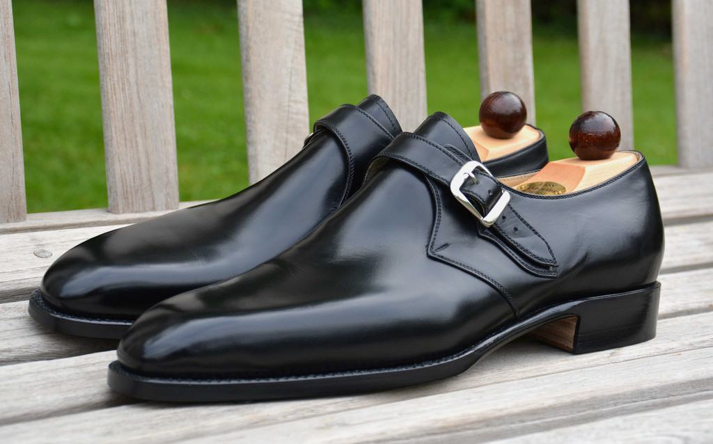 This type of clean black single monk strap is relatively formal in for example England. Picture: StyleForum (the top picture: Classic Shoes for Men)