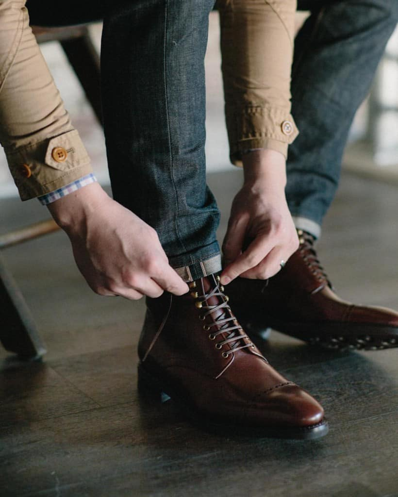 American brand Cobbler Union is the inofficial world champion in lacing pics, but has competition. Picture: Cobbler Union