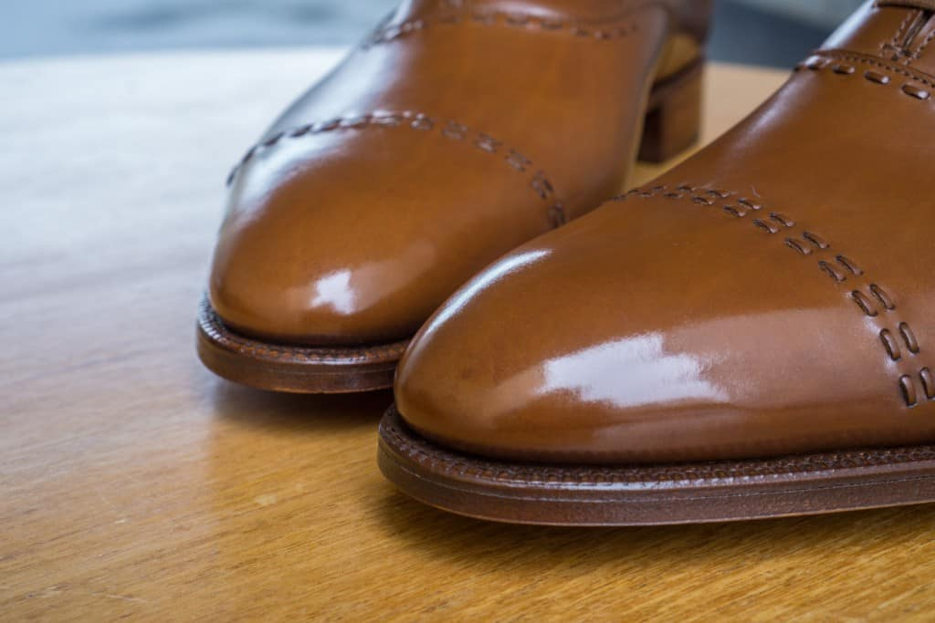 With the same number of layers of polish the Lobb shoes have received a bit of a spit shine.