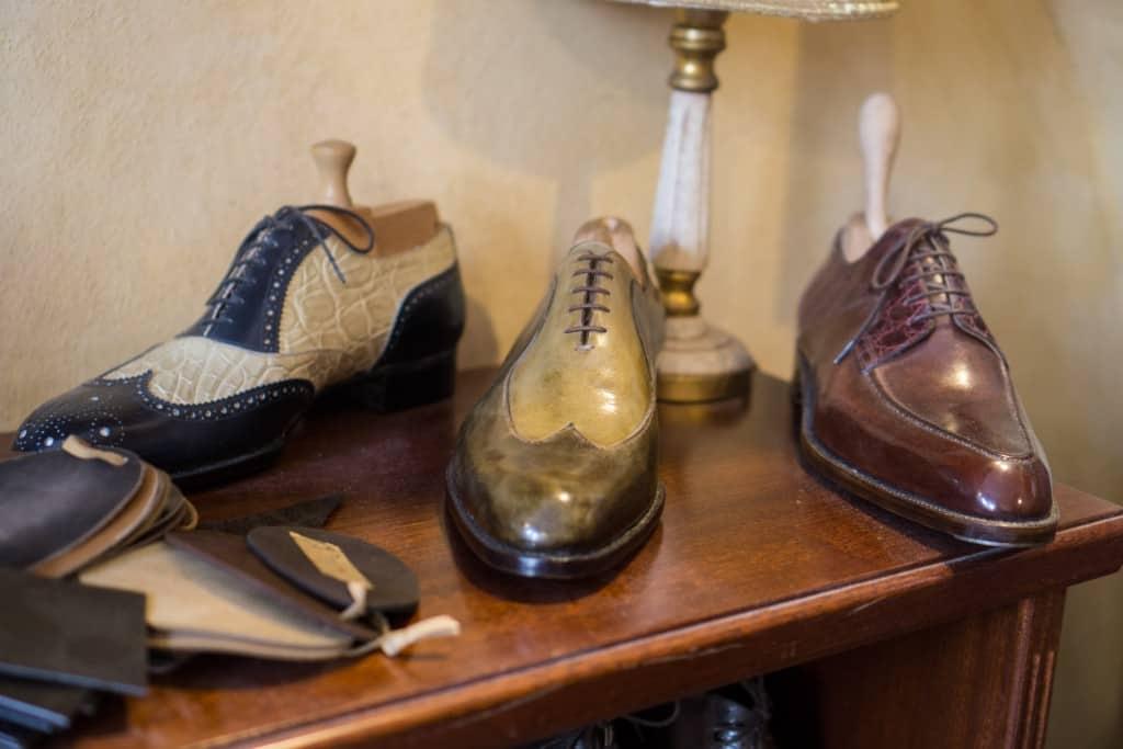 A bit more extravagant shoes.