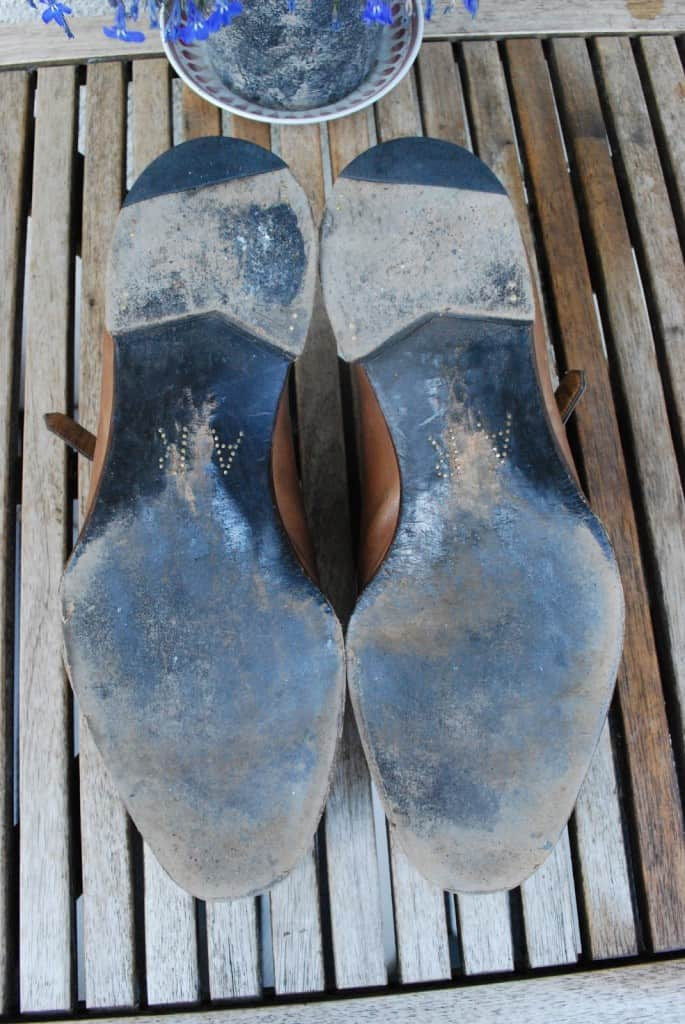 The way the soles were worn it looked to me as they had been used a lot in wet weather, rather than have been worn for a long period of time.
