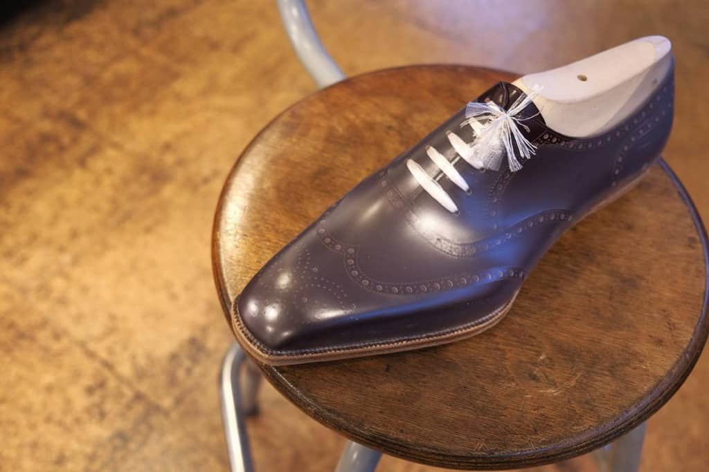 The shoes are built and the finishing process remains.