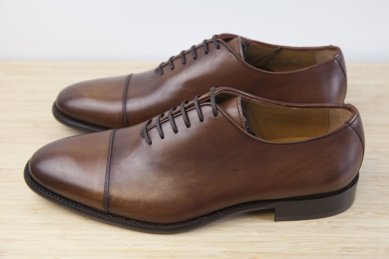 Brown painted oxford. Picture: