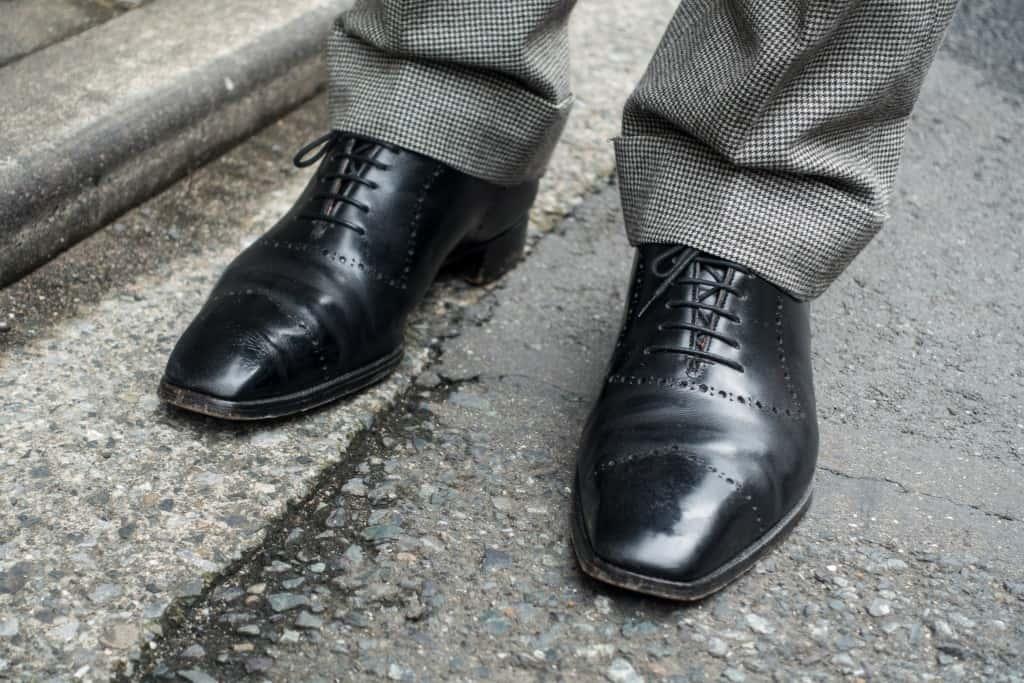 Shoji's own shoes.