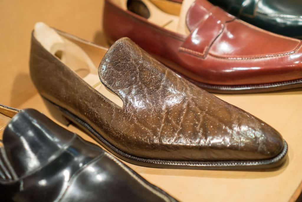 Wholecut loafer in an exotic skin (I'm not sure what type).
