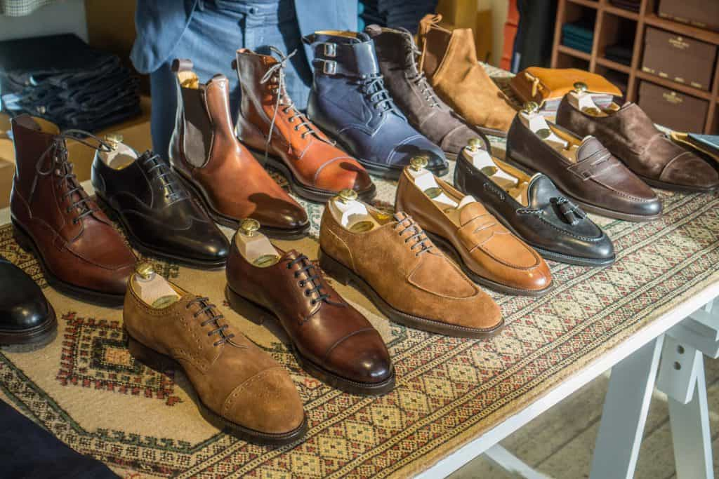 Edward Green trunk show shoes.