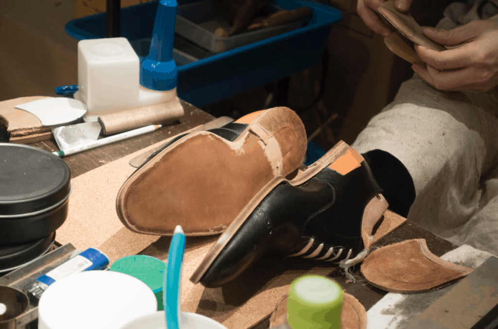 Seiji McCarthy shoes in the making.