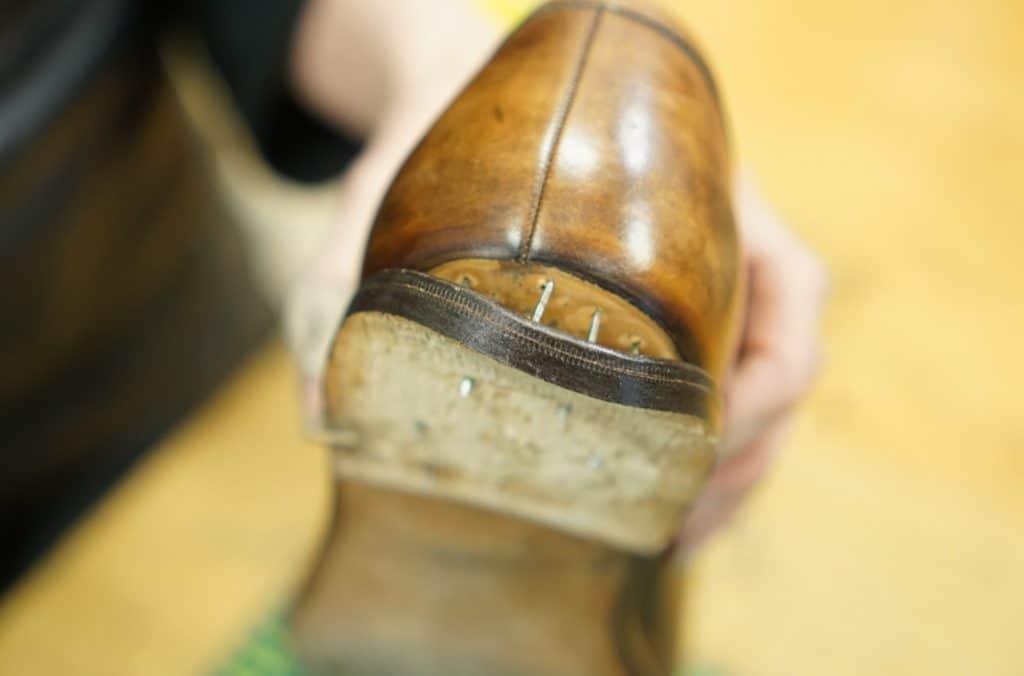 The Scafora heel on its way off.