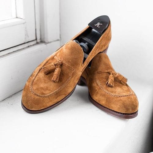 Lovely tassel loafers.