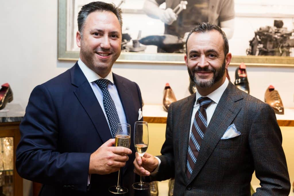 Dean Girling and Tony Gaziano at the anniversary party this week. Pictures: Gaziano & Girling