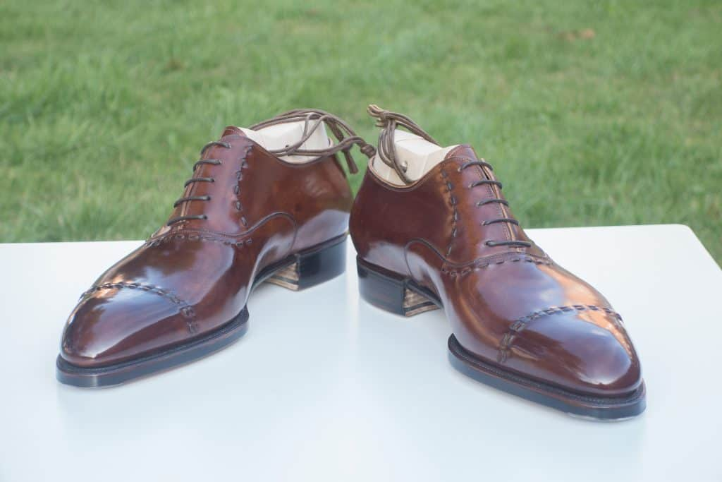 My second pair of Riccardo, an interpretation of John Lobb Paris Saint Crepin 2008 model I wanted, as he had to do a lot of to other customers afterwards.