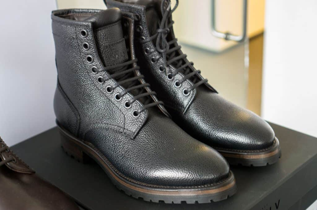Royal Derby Boot in black scotch grain.