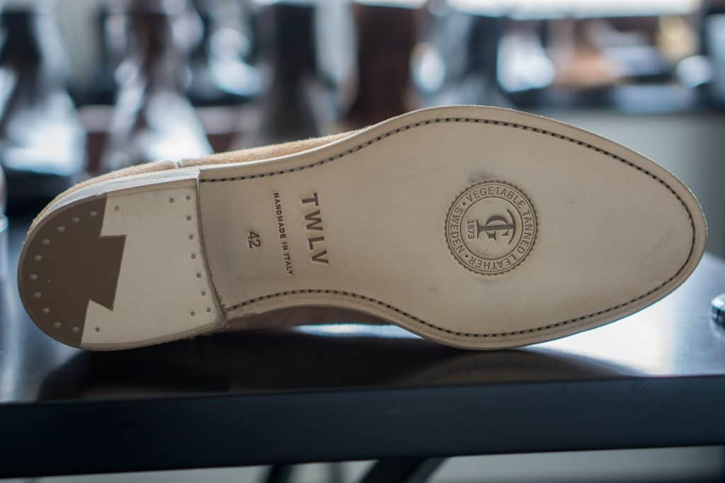 Sole on one of the above, also in the leather from Tärnsjö.