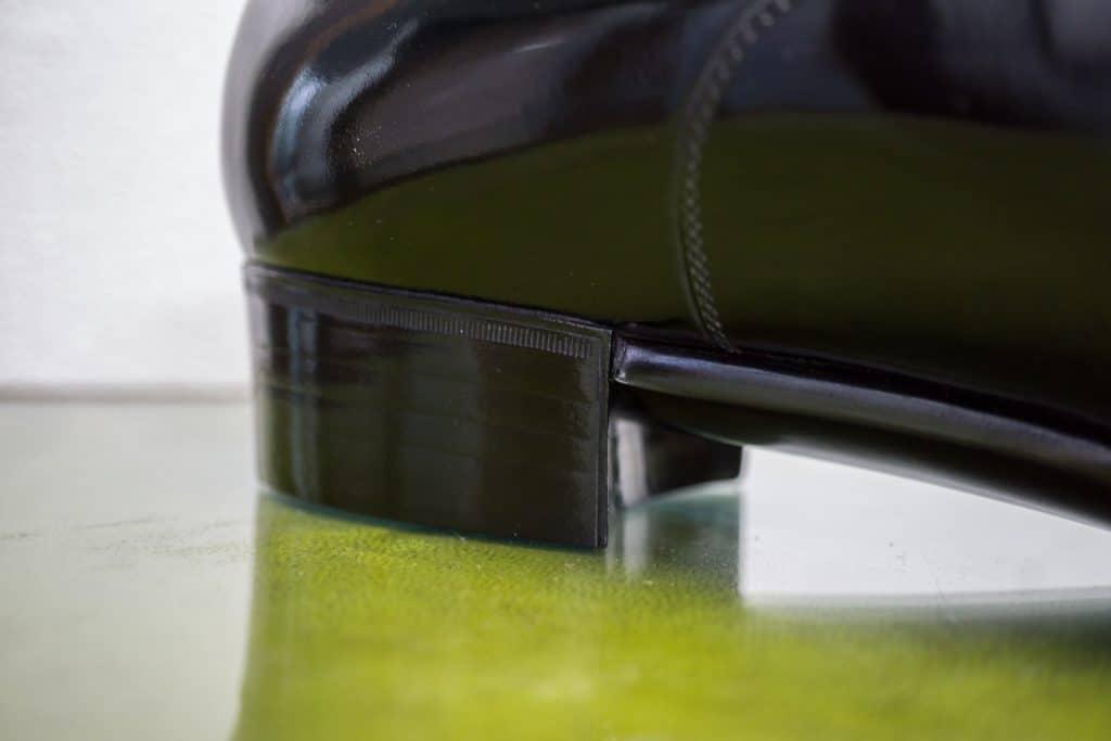More heel details.