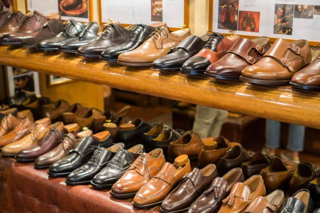 RTW shoes in the store.