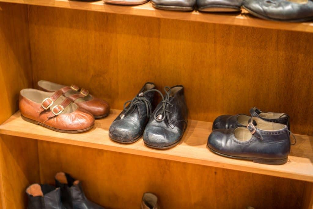 Old fine children's shoes.