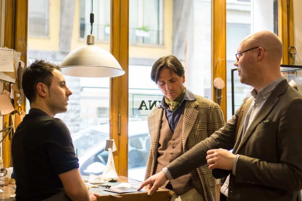 Giovanni ,Antonio and me discussing. Images: me and Lina Dahlstrom