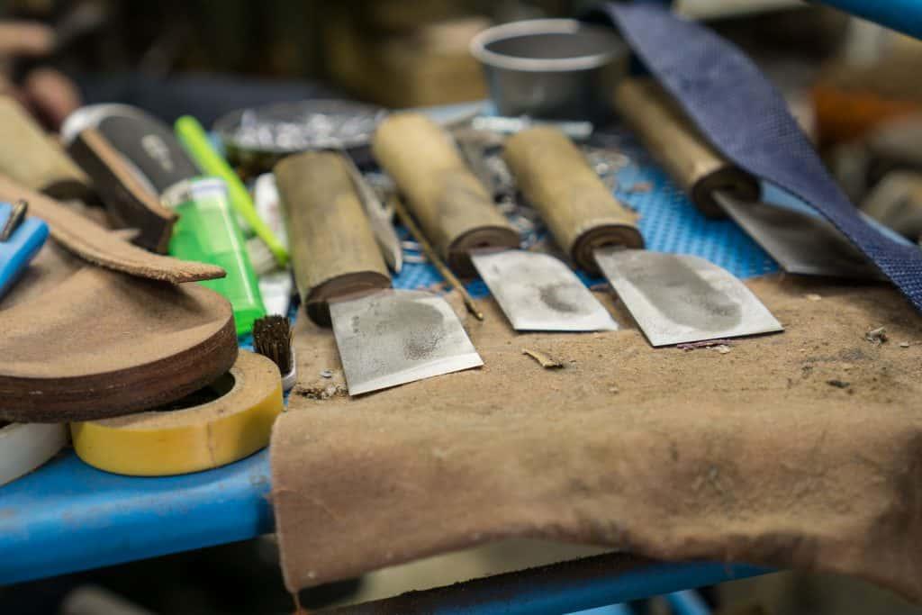 Japanese shoemaking knives.