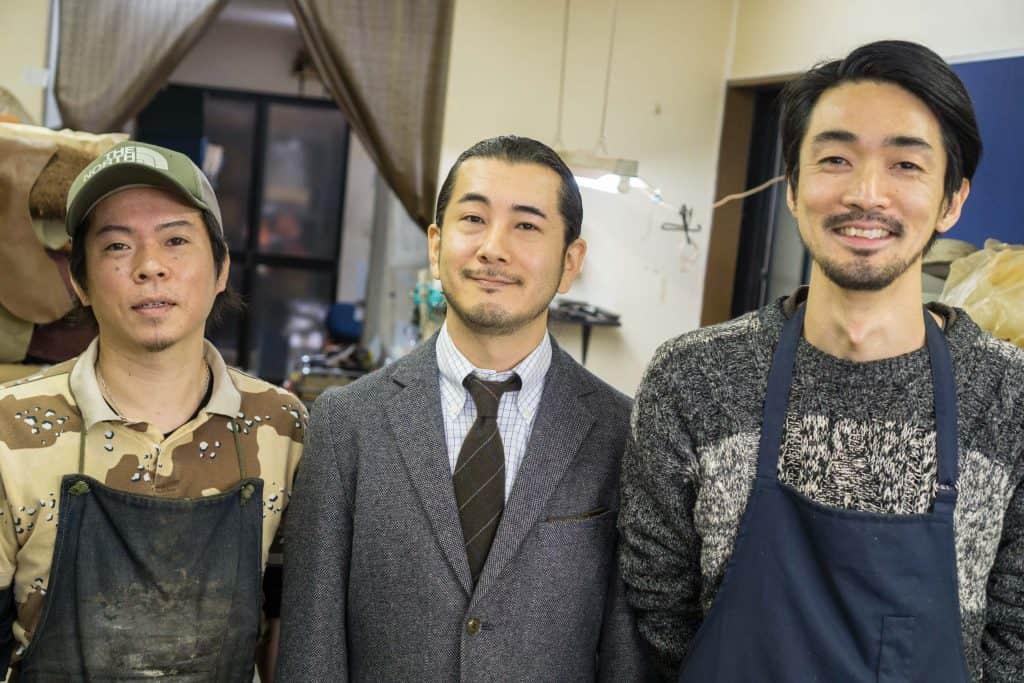 Atsushi Okada, James Komasawa and Kazutoshi Endo. The people behind Joe Works.