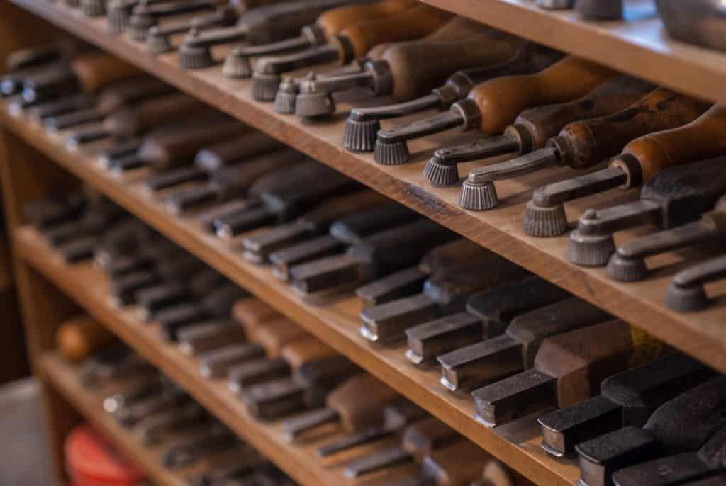 Yohei Fukuda's tool shelf.